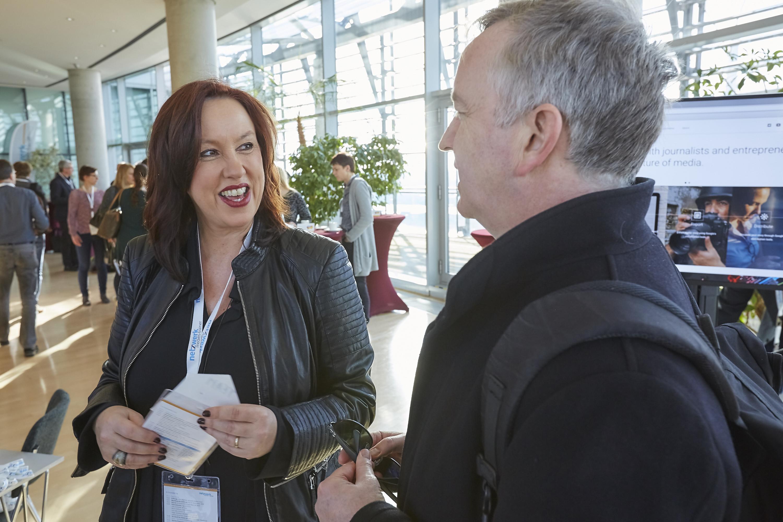 Manuela Feyder auf dem Crossmedia-Tag des netzwerk medien-trainer