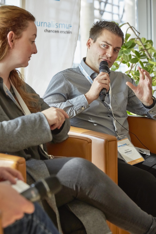 Martin Hoffmann auf dem Crossmedia-Tag des netzwerk medien-trainer