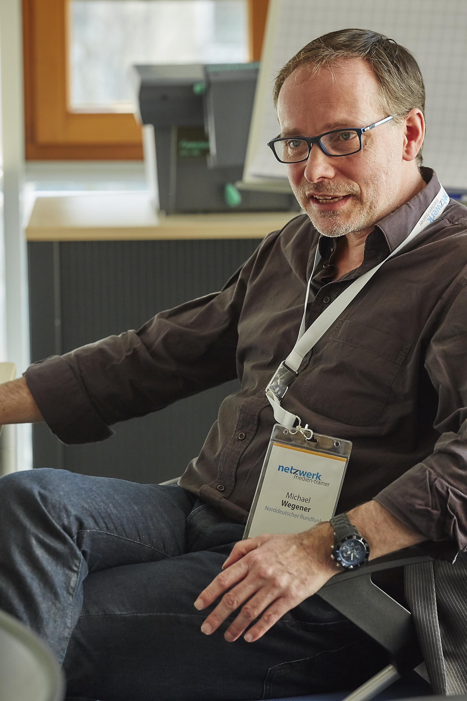 Michael Wegener auf dem Crossmedia-Tag des netzwerk medien-trainer