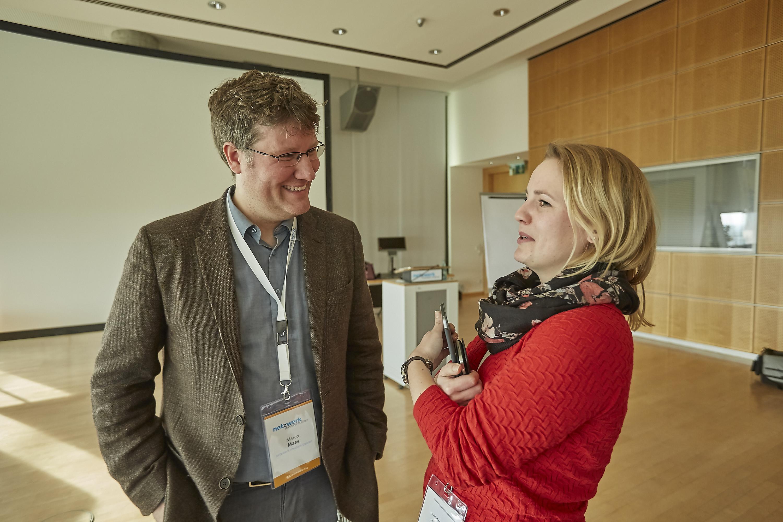 Marco Maas auf dem Crossmedia-Tag des netzwerk medien-trainer