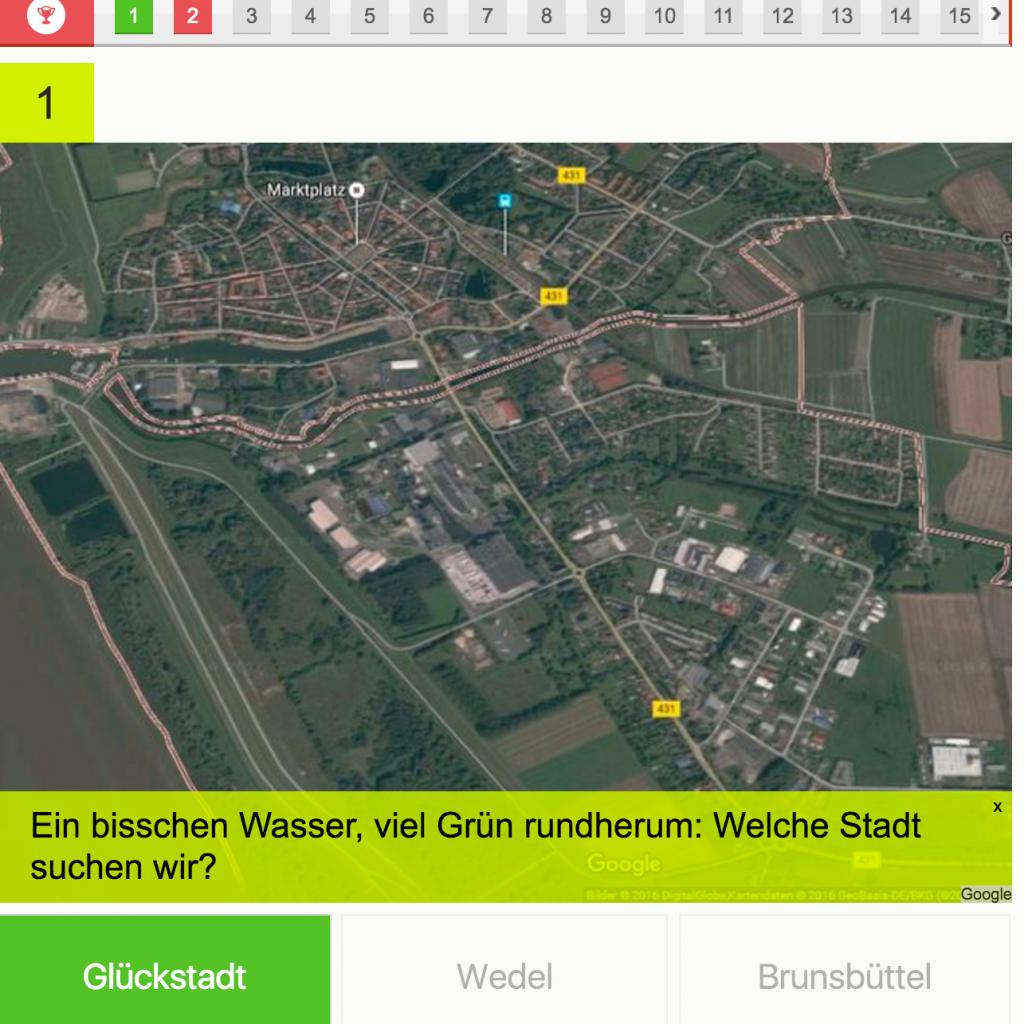Workshop-Ergebnis: Quiz mit Bildern aus Google Earth Pro